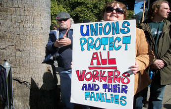 """labor unions good or bad A lthough labor unions have been celebrated in folk songs and stories as fearless champions of  companies are legally compelled to bargain with unions in """"good."""