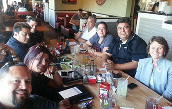 Lead Organizer Kathy Smith, far right, celebrates with Florida ...