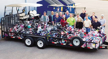 IBEW Local 1042 donated 55 new bicycles to community children for the ...